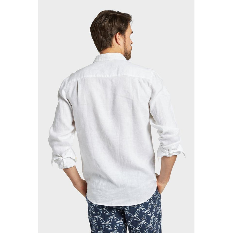 Hampton Linen Shirt White