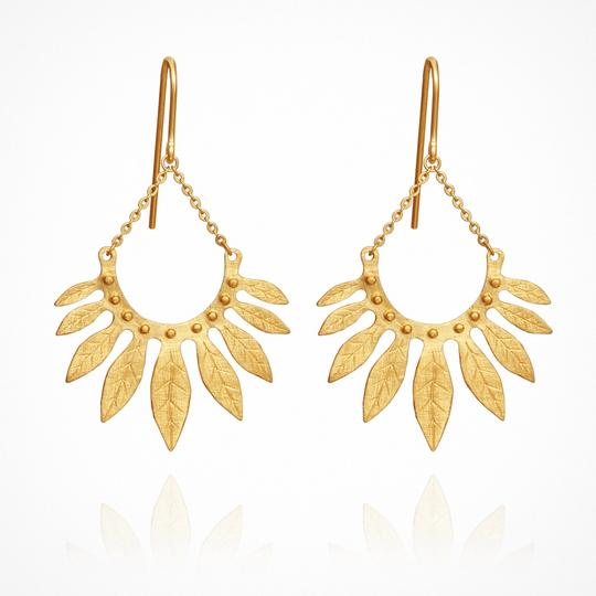 Carissa Gold Earrings - One Palm Studio