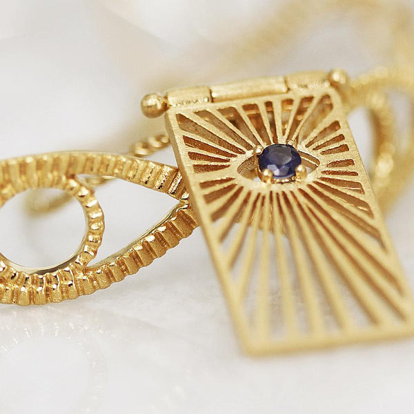 Eye Necklace Gold - One Palm Studio