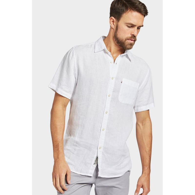 Hampton Linen  S/S Shirt White