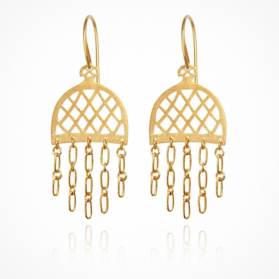Kori Earrings Gold - One Palm Studio