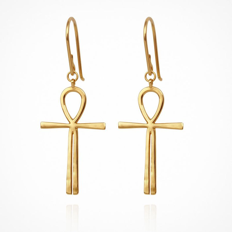 Ankh Earring Gold - One Palm Studio