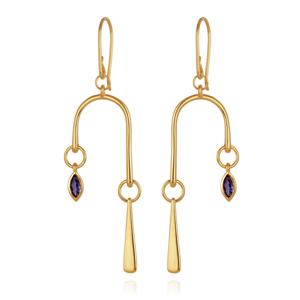 Elysia Earrings Gold - One Palm Studio