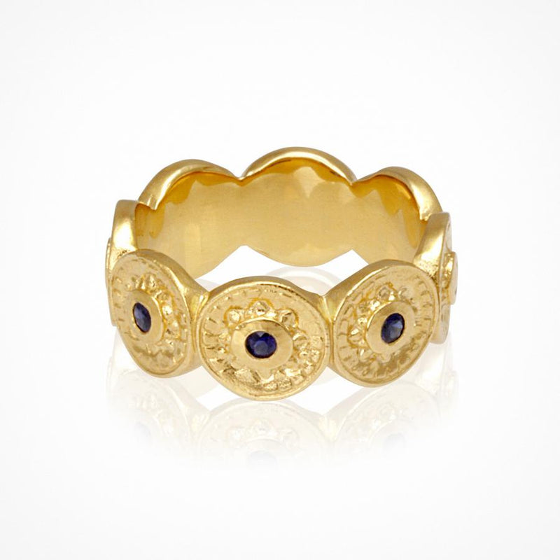 Vesta Ring Gold - One Palm Studio
