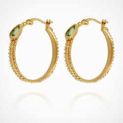 Gigi Hoop Earrings Gold - One Palm Studio