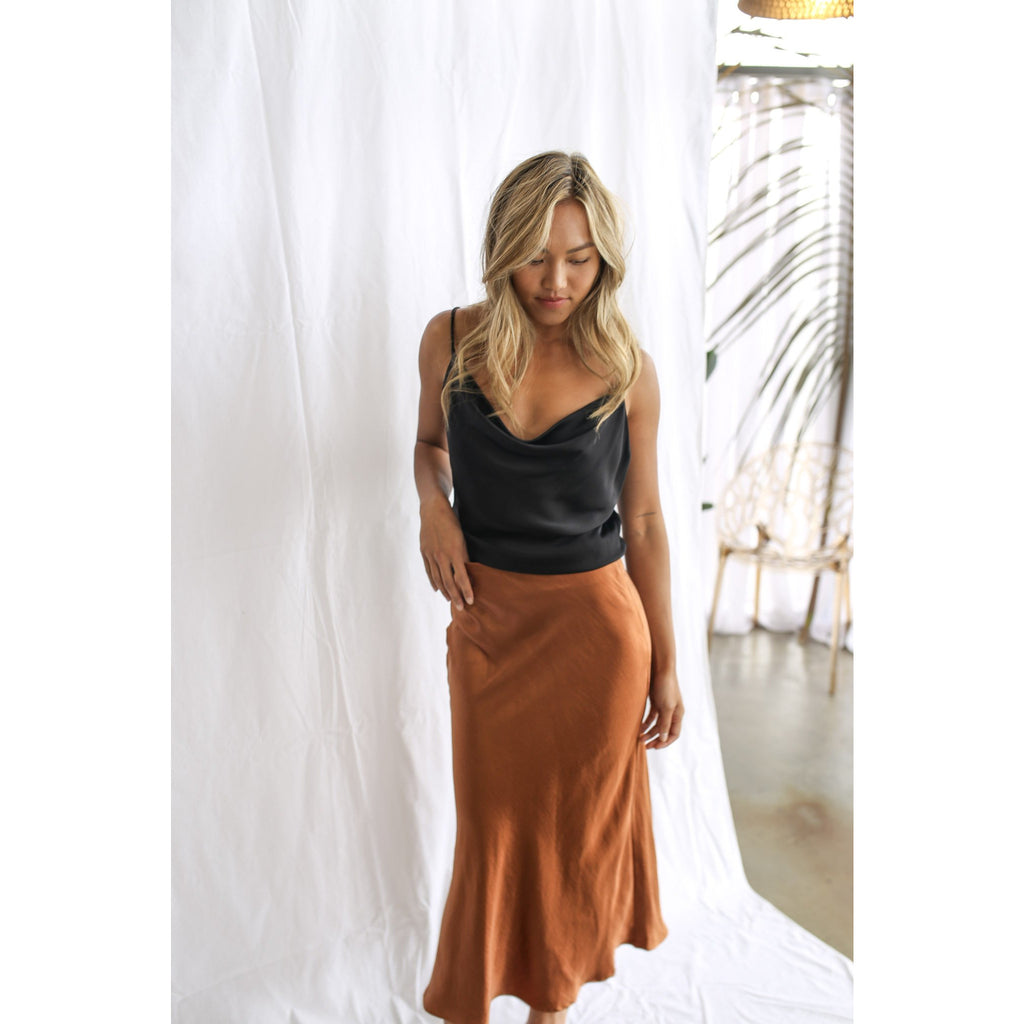 Kendall Skirt Copper - One Palm Studio