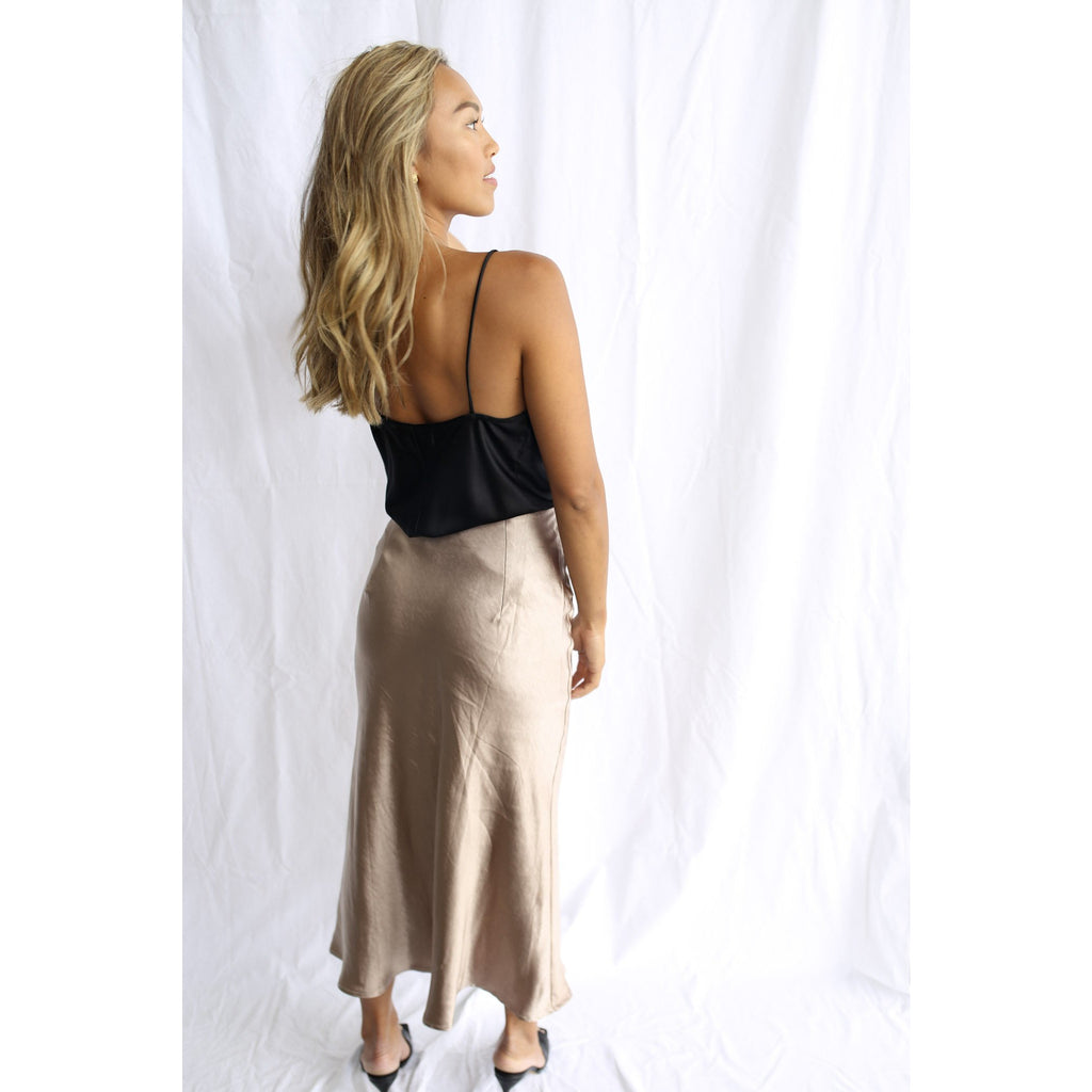 Kendall Skirt Nude - One Palm Studio