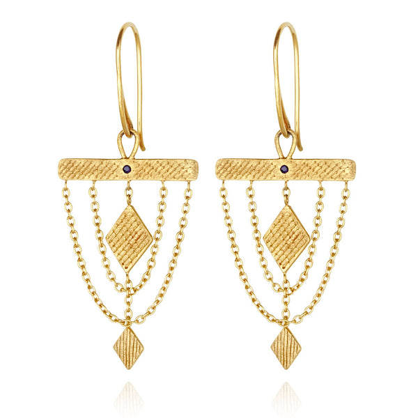Ara Earrings Gold - One Palm Studio