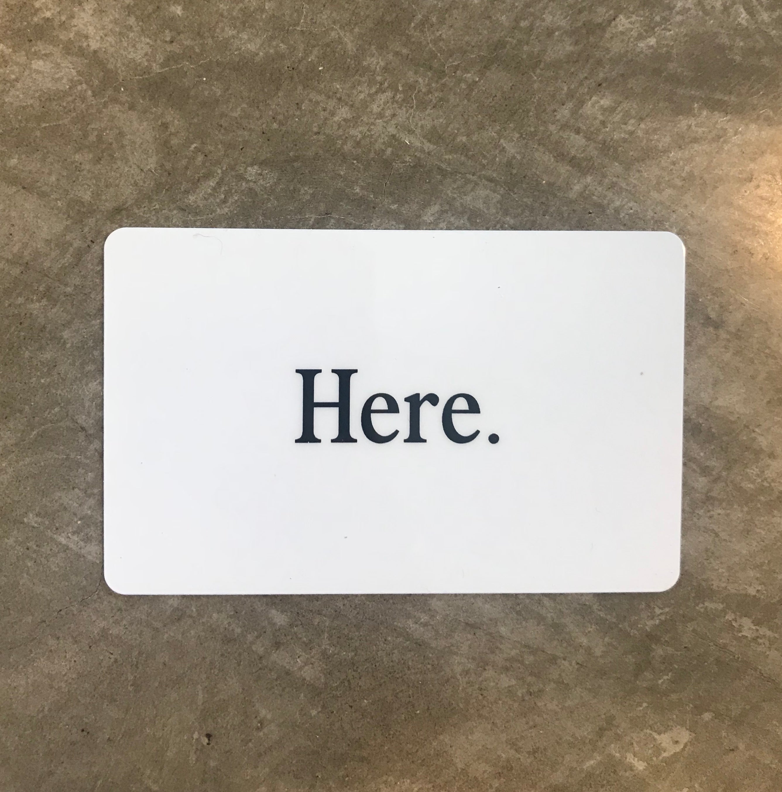 Here. - Gift Card