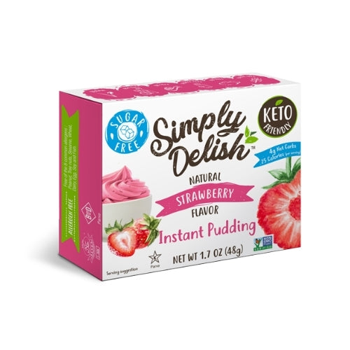 Simply Delish Strawberry Pudding