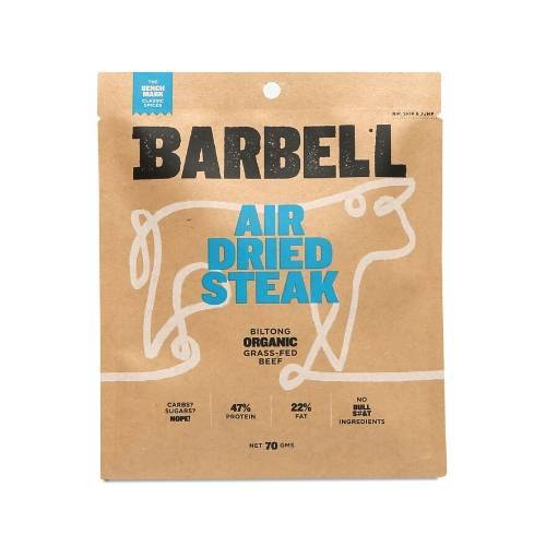 Barbell Benchmark Air Dried Steak biltong 70gm