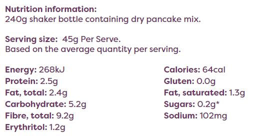 Noshu Low Carb Pancake Mix - 240g
