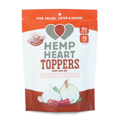 Hemp Heart Toppers - Chipotle, Onion & Garlic 125gm