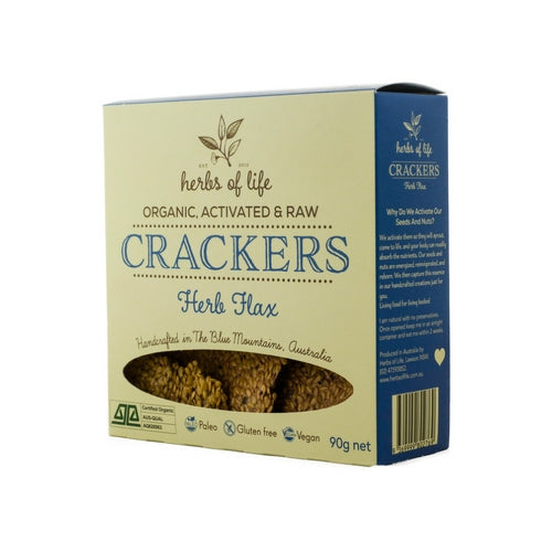Herbs of Life - Organic Low Carb Herb Flax Crackers