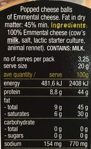 Cheesepop - Emmental Cheese 65gm