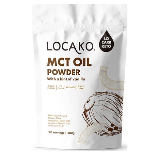 Locako MCT Oil Powder - Hint of Vanilla 200gm