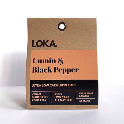 Low Carb Lupin Chip - Cumin & Black Pepper 160gm