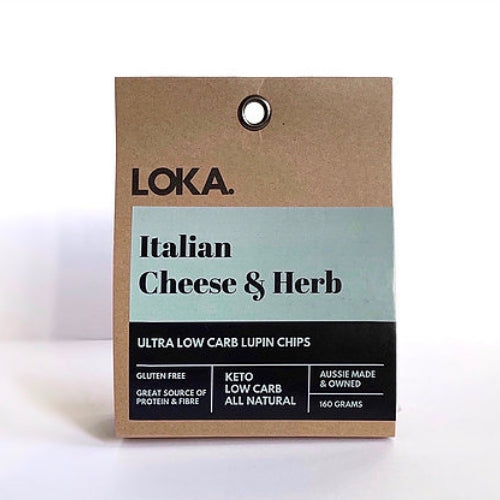 Low Carb Lupin Chip - Italian Cheese & Herb 160gm