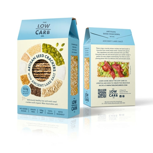 The Low Carb Co - Keto Friendly crackers Ancient Lake Salt