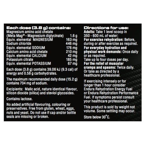 Endura Rehydration Low Carb Fuel - Coconut 122gm