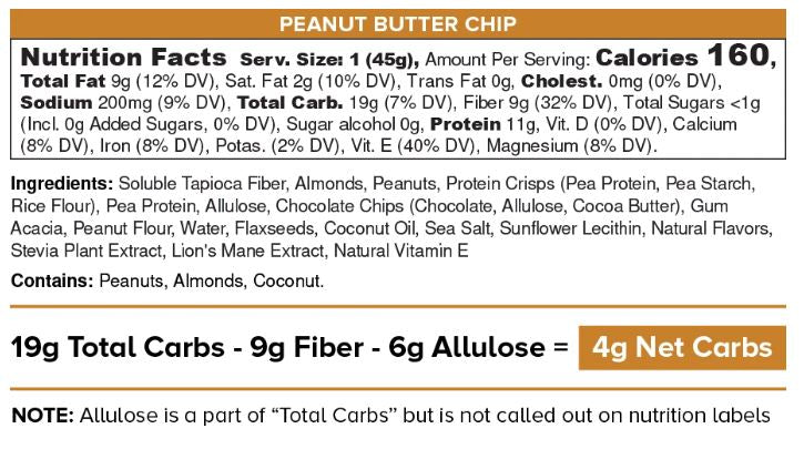 IQ Bar - Peanut Butter Chip 45g