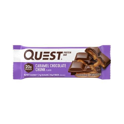 Quest Caramel Choc Chunk Protein Bar - 60gm