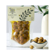 Organic Manzanillo olives in olive oil
