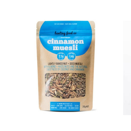 Banting Food Co Good Banter Cinnamon Muesli - Low Carb