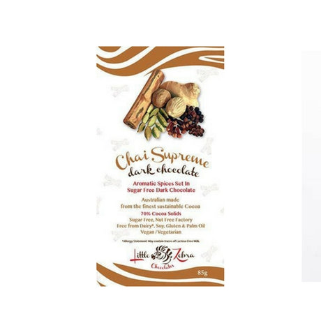 Little Zebra - Chai Supreme Dark Chocolate - Low Carb - Sugar Free