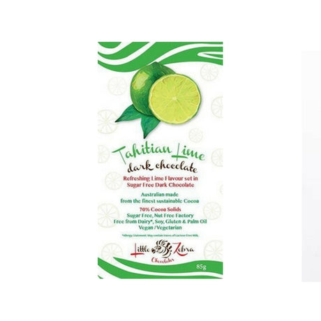 Little Zebra - Tahitian Lime Dark Chocolate - Low Carb - Sugar Free