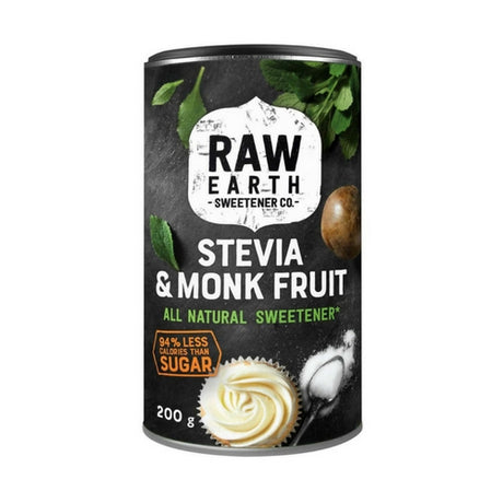 Raw Earth Natural Sweetener - Erythritol, Steviol & Monk Fruit Extract Flavour