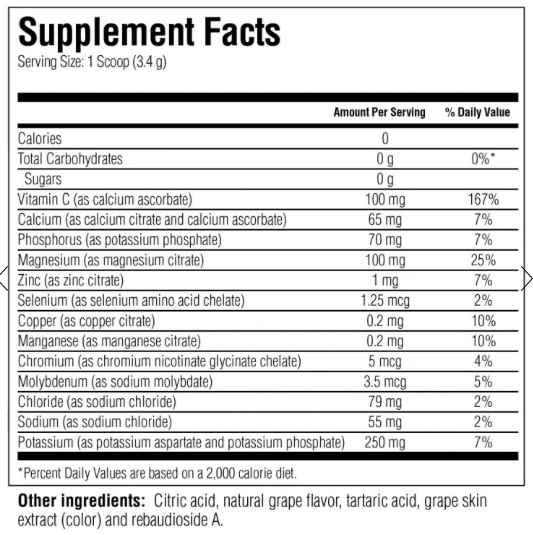 Electrolyte Supplement - Grape 20 Sachets