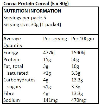 Low Carb Cereal - Cocoa Protein 5x30g
