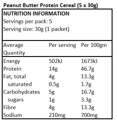 Low Carb Cereal - Peanut Butter Protein 5x30g