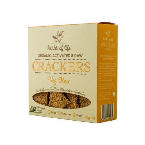 Herbs of Life - Organic Low Carb Veg Flax Crackers