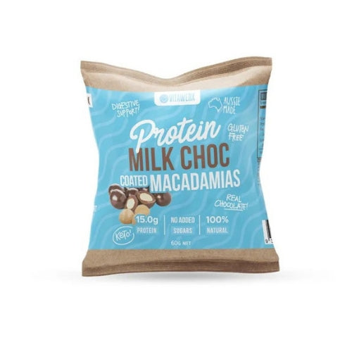 Vitawerx Protein Milk Chocolate Coated Macadamias