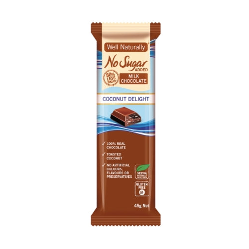 Milk Chocolate - Coconut Delight - No Sugar Added 45gm
