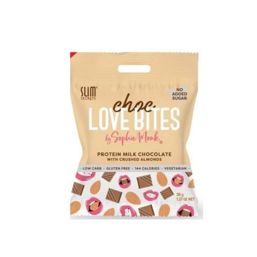 Slim Secrets - Choc Love Bites with Crushed Almonds
