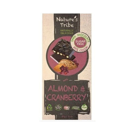 Nature's Tribe Dark Chocolate with Almond & Cranberry