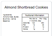 Cookie Pack - Almond Shortbread 100gm