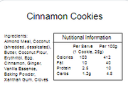 Cookie Pack - Cinnamon Spice 100gm