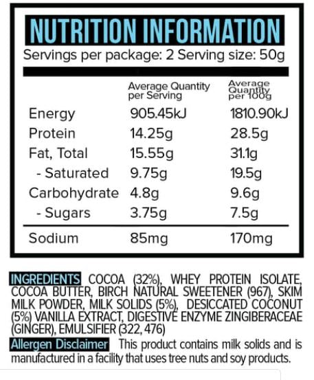 Vitawerx Chocolate - Milk Chocolate Coconut Rough 100gm