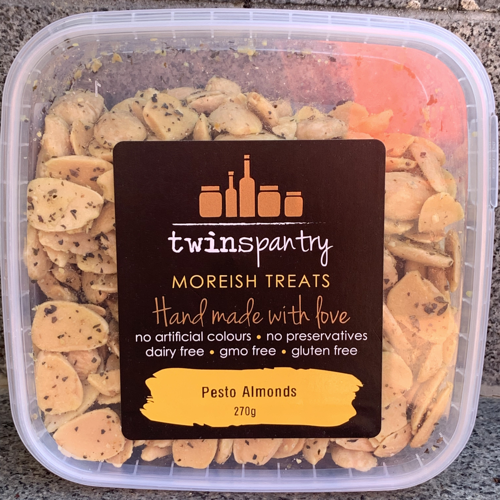 Twins Pantry - Pesto Almonds - vegan gluten free keto snack