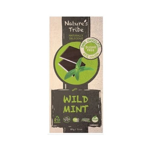 Nature's Tribe Dark Chocolate with wild mint