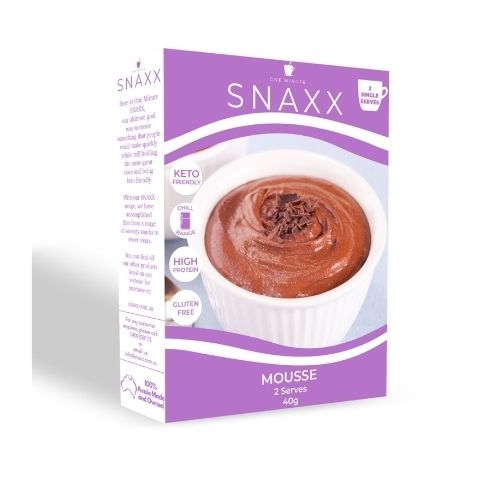 Snaxx One Minute Chocolate Mousse  - 2 pack