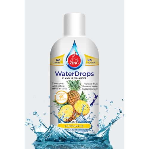 Pineapple water drops