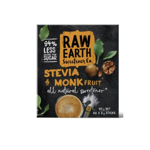 Raw Earth Stevia and Monk Fruit Sticks