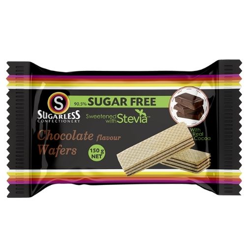 Sugarless Confectionery Chocolate Flavour Wafers