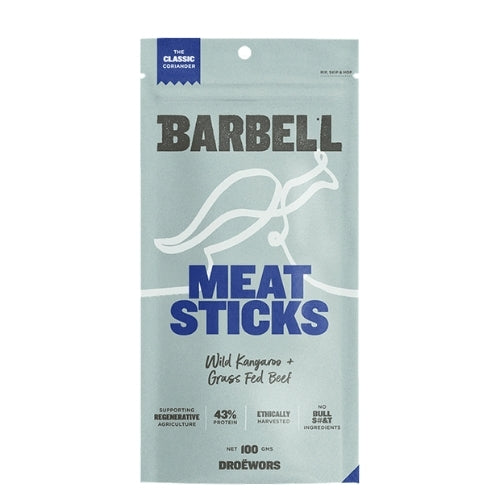 Classic Coriander Kangaroo and Beef Barbell Meat Sticks