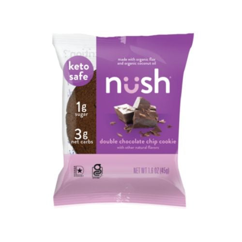 Nush Double Chocolate Chip Cookie - 45g